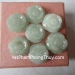 Mặt nhẫn đá hoa mẫu đơn ngọc cẩm thạch Myanmar sang trọng hấp dẫn S853