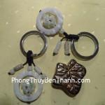 Móc khóa xe vòng nguyệt bảo đá ngọc Phỉ Thú thập toàn thập mỹ S101