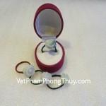 Nhẫn dây cước hoa Mẫu Đơn ngọc Phỉ Thúy tình cảm may mắn S854