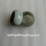 Nhẫn trơn bản to ngọc Phỉ Thúy Myanmar xanh lý phong thủy S961