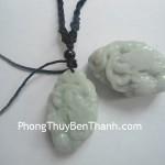 Dây chuyền Rồng xanh 2 mặt đá Cẩm Thạch hóa giải tai ách S113